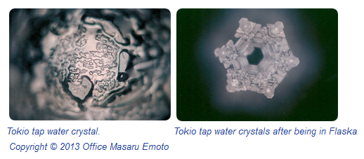 Masaru Emoto water crstals photographs of water from Flaska