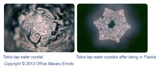 Masaru Emoto water crstals photographs of water from Flaska